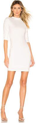Alice + Olivia Delora Fitted Mock Neck Mini Dress