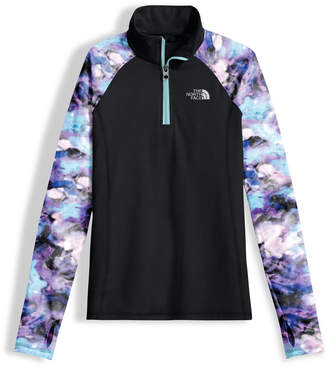 The North Face Two-Tone Stretch Pulse Half-Zip Pullover, Black, Size XXS-XL