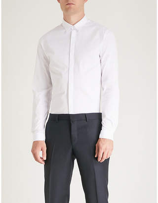 The Kooples Hidden placket fitted cotton shirt
