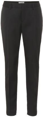 Saint Laurent Low-rise skinny wool tuxedo pants