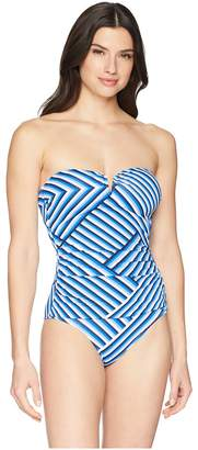 Tommy Bahama Full Fronds V Wire One-Piece Women's Swimsuits One Piece