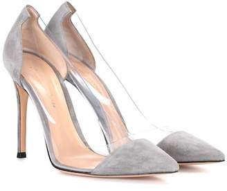 Gianvito Rossi Exclusive to Mytheresa – Plexi suede pumps