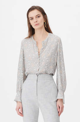 Rebecca Taylor Tailored Aime Jacquard Top