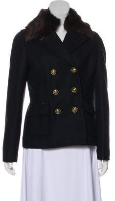 Tory Burch Wool-Blend Double-Breasted Short Coat w/ Tags