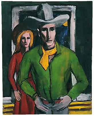 One Kings Lane Vintage Watson Bidwell Cowboy Portrait - Genesee River Art