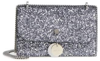 Jimmy Choo Small Finley Star Glitter Shoulder Bag