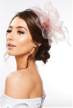 Quiz Mauve Feather Loop Fascinator