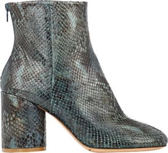Maison Margiela Women's Cylindrical-Heel Ankle Boots-GREEN $1,045 thestylecure.com