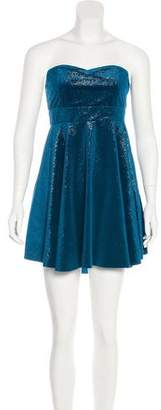 Free People Velvet Mini Dress w/ Tags