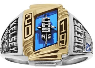 Keepsake Women's Futura Class Ring available in Valadium Metals, Valadium Two-Toned, Silver Plus, 10k Gold Two-Toned, 10k Gold