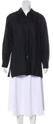 Ellen Tracy Linda Allard Long Sleeve Button-Up Top