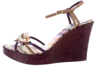 Missoni Suede Wedge Sandals