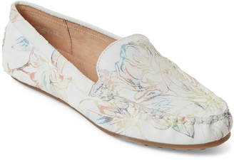 6c8afbd3f6a Aerosoles White Floral Over Drive Leather Loafers