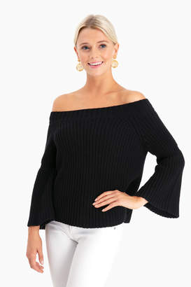 525 America Tulip Off the Shoulder Shaker Sweater