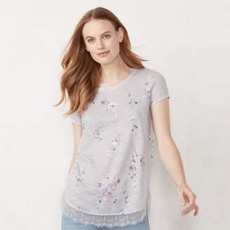 Lauren Conrad Lc Women's Bow Back Shirttail Tunic