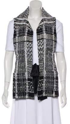 Chanel Tweed Self-Tie Vest
