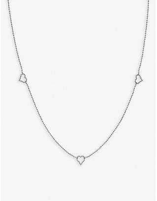 Gucci Boule sterling silver heart necklace, silver
