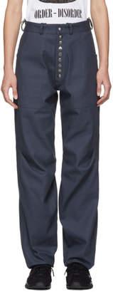 Kiko Kostadinov Reversible Grey and Green Triple Dart Trousers