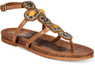 Kenneth Cole Reaction Women's Chase Me Embellished Flat Sandals Women's Shoes $69 thestylecure.com