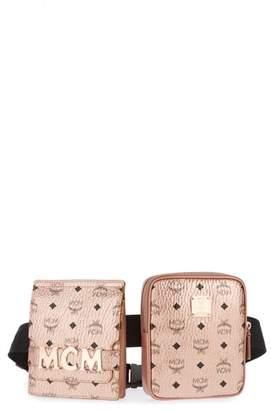 MCM Stark Canvas Double Belt Bag