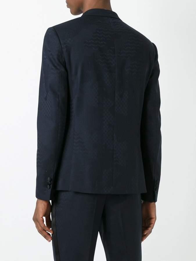 Neil Barrett tonal pattern blazer