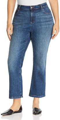 Eileen Fisher Plus Bootcut Ankle Jeans in Aged Indigo