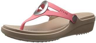 Crocs Women's Sanrah Wedge Flip Flop