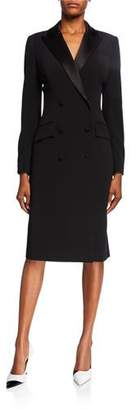 Rickie Freeman For Teri Jon Double-Breasted Tuxedo Coat Dress