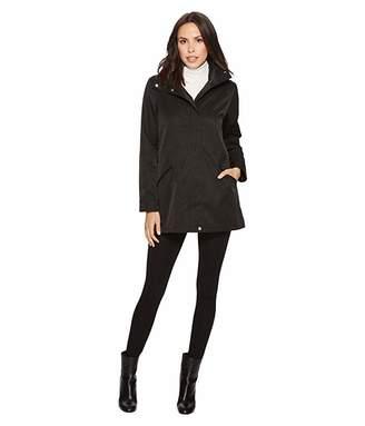 Lauren Ralph Lauren Stand Collar Anorak with Faux Leather Details