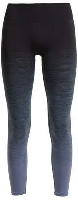 Pepper & Mayne - High Rise Ombre Compression Performance Leggings - Womens - Black Blue