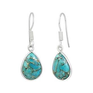 Natural Earrings 925 Sterling Silver handmade Dangle Earrings for women