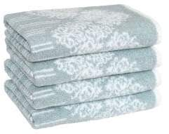 Gioia Soft Aqua Hand Towel/Set of 4