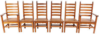 One Kings Lane Vintage 1940s Shaker-Style Dining Chairs - Set of 6 - Blink Home Vintique
