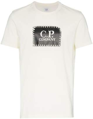 C.P. Company stitch logo print cotton t shirt