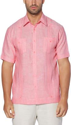 Cubavera 100% Linen Short Sleeve 2 Pocket Cross Dye Guayabera