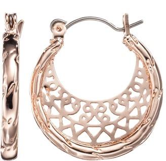 LC Lauren Conrad Filigree Hoop Earrings $14 thestylecure.com