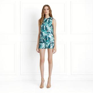 Rachel Zoe Miley Palm Printed Sequin Shorts