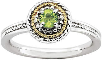 JCPenney FINE JEWELRY Personally Stackable Two-Tone Stackable Peridot Ring