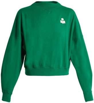 Etoile Isabel Marant Madilon flocked-logo cotton-blend sweatshirt