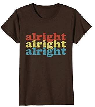 Vintage 70s Distressed Alright Alright Alright T Shirt