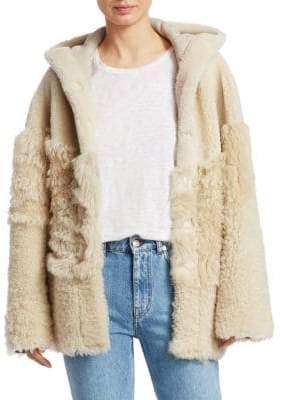 IRO Sunday Hooded Shearling Jacket
