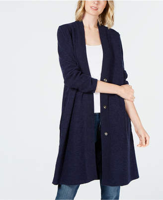 Eileen Fisher Merino Wool Duster Cardigan, Regular & Petite Created for Macy's