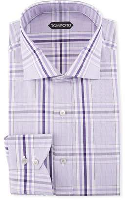 Tom Ford Large-Plaid Dress Shirt