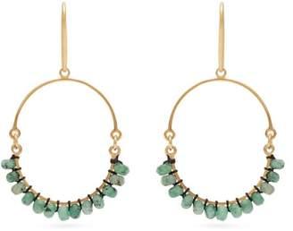 Isabel Marant Beaded Hoop Earrings - Womens - Green