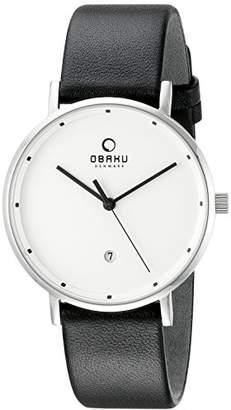 Obaku Unisex V163GDCIRB Analog Display Analog Quartz Black Watch