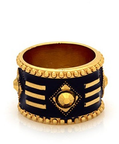 Belle Noel by Kim Kardashian Gypsy Chic Enameled Cigar Band Ring