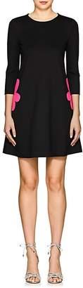 Lisa Perry Women's Fleurty Ponte A-Line Dress - Black
