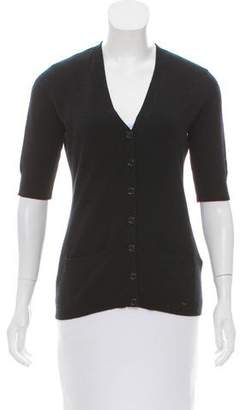 Ralph Lauren Black Label Button-Up Cashmere Cardigan