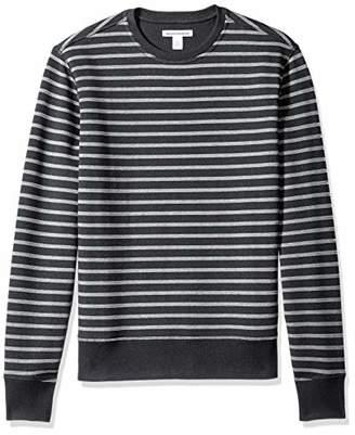 Amazon Essentials Men's Standard Patterened Crewneck Fleece Sweatshirt