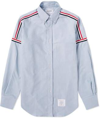Thom Browne Grosgrain Shoulder Stripe Oxford Shirt